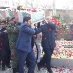 تشییع پیکر شهید گمنام با مشارکت هاتف شهر
