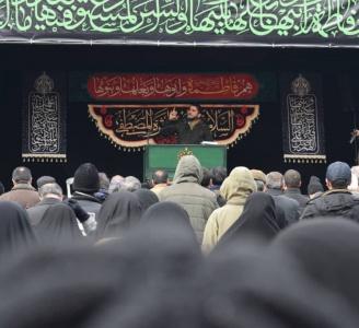 برگزاری مراسم فاطمیه در سعادتآباد تهران